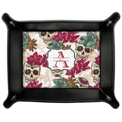 Sugar Skulls & Flowers Genuine Leather Valet Tray (Personalized)