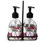 Sugar Skulls & Flowers Soap & Lotion Dispenser Set (Glass) (Personalized)