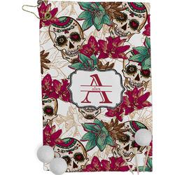Sugar Skulls & Flowers Golf Towel - Full Print (Personalized)
