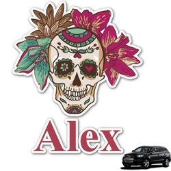 Sugar Skulls & Flowers Graphic Car Decal (Personalized)
