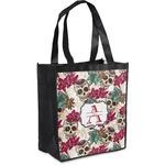 Sugar Skulls & Flowers Grocery Bag (Personalized)