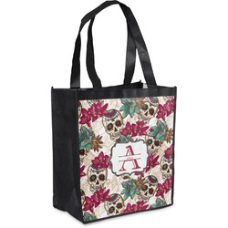 Sugar Skulls & Flowers Grocery Bag (Personalized)