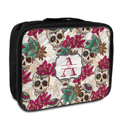Sugar Skulls & Flowers Insulated Lunch Bag (Personalized)