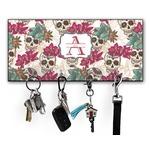 Sugar Skulls & Flowers Key Hanger w/ 4 Hooks (Personalized)
