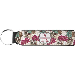 Sugar Skulls & Flowers Keychain Fob (Personalized)
