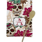 Sugar Skulls & Flowers Kitchen Towel - Full Print (Personalized)