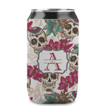 Sugar Skulls & Flowers Can Sleeve (12 oz) (Personalized)