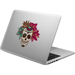 Sugar Skulls & Flowers Laptop Decal (Personalized)