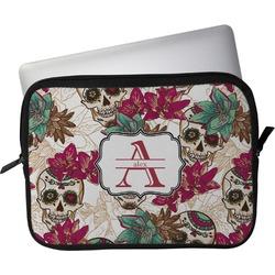 "Sugar Skulls & Flowers Laptop Sleeve / Case - 13"" (Personalized)"