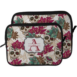 Sugar Skulls & Flowers Laptop Sleeve / Case (Personalized)