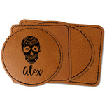 Sugar Skulls & Flowers Faux Leather Iron On Patch (Personalized)