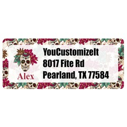 Sugar Skulls & Flowers Return Address Labels (Personalized)