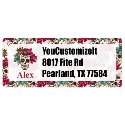 Sugar Skulls & Flowers Return Address Labels (Personalized)