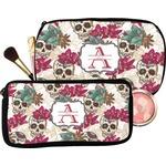 Sugar Skulls & Flowers Makeup / Cosmetic Bag (Personalized)