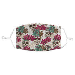 Sugar Skulls & Flowers Cloth Face Masks (Available in 2 Sizes) (Personalized)