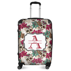 "Sugar Skulls & Flowers Suitcase - 24""Medium - Checked (Personalized)"
