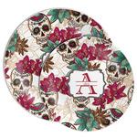 Sugar Skulls & Flowers Melamine Plate (Personalized)