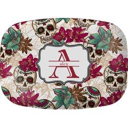 Sugar Skulls & Flowers Melamine Platter (Personalized)