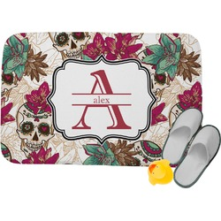 Sugar Skulls & Flowers Memory Foam Bath Mat (Personalized)