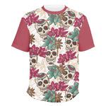 Sugar Skulls & Flowers Men's Crew T-Shirt (Personalized)