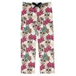 Sugar Skulls & Flowers Mens Pajama Pants (Personalized)