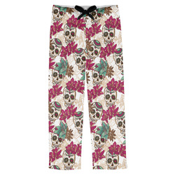 Sugar Skulls & Flowers Mens Pajama Pants (Personalized)