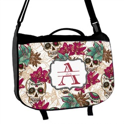 Sugar Skulls & Flowers Messenger Bag (Personalized)