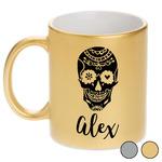 Sugar Skulls & Flowers Metallic Mug (Personalized)