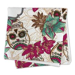 Sugar Skulls & Flowers Microfiber Dish Rag (Personalized)