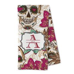 Sugar Skulls & Flowers Microfiber Kitchen Towel (Personalized)