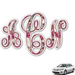 Sugar Skulls & Flowers Monogram Car Decal (Personalized)