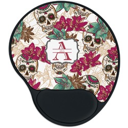 Sugar Skulls & Flowers Mouse Pad with Wrist Support