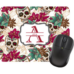 Sugar Skulls & Flowers Mouse Pad (Personalized)