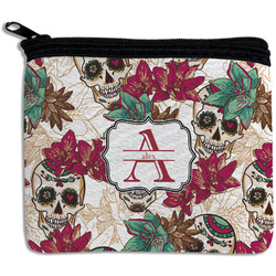 Sugar Skulls & Flowers Rectangular Coin Purse (Personalized)