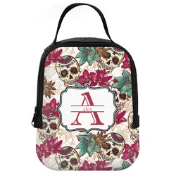 Sugar Skulls & Flowers Neoprene Lunch Tote (Personalized)