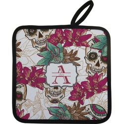 Sugar Skulls & Flowers Pot Holder (Personalized)