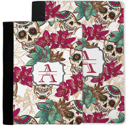 Sugar Skulls & Flowers Notebook Padfolio w/ Name and Initial