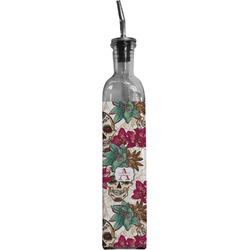 Sugar Skulls & Flowers Oil Dispenser Bottle (Personalized)