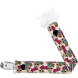 Sugar Skulls & Flowers Pacifier Clips (Personalized)