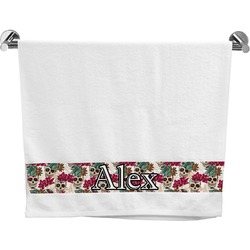 Sugar Skulls & Flowers Bath Towel (Personalized)
