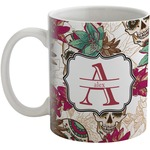 Sugar Skulls & Flowers Coffee Mug (Personalized)