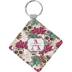 Sugar Skulls & Flowers Diamond Key Chain (Personalized)