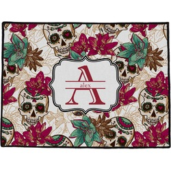 Sugar Skulls & Flowers Door Mat (Personalized)