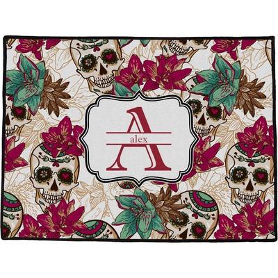 Sugar Skulls & Flowers Door Mat (Personalized)