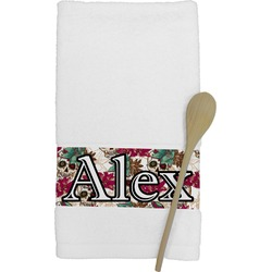 Sugar Skulls & Flowers Kitchen Towel (Personalized)