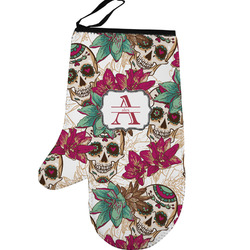 Sugar Skulls & Flowers Left Oven Mitt (Personalized)