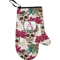Sugar Skulls & Flowers Right Oven Mitt (Personalized)