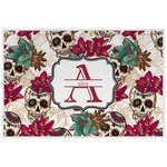 Sugar Skulls & Flowers Laminated Placemat w/ Name and Initial