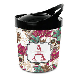 Sugar Skulls & Flowers Plastic Ice Bucket (Personalized)