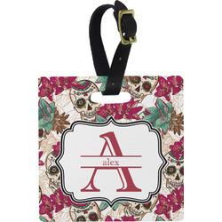 Sugar Skulls & Flowers Luggage Tags (Personalized)